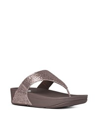 Fitflop Lulu Tm Superglitz Toe Thong Sandals Bronze