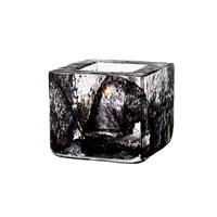 Kosta Boda Brick Votive Black