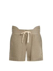 The Upside Garda Drawstring Loose Fit Performance Shorts Beige
