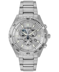 Citizen Men's Chronograph Sport Stainless Steel Bracelet Watch 43Mm At2129 58A A Macy's Exclusive Style Silver