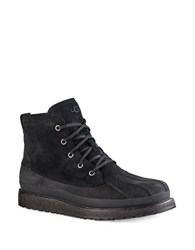 Ugg Fairbanks Leather And Suede Waterproof Boots Black