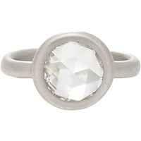 Linda Lee Johnson Women's Diamond And Platinum Casino Rose Ring No Color