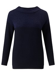 Marella Barbano Contrast Knit Jumper Navy
