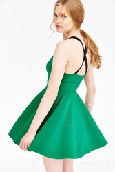 Silence And Noise Silence Noise Emerald City Wide Strap Mini Dress Bright Green