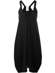 Lost And Found Ria Dunn Draped Square V Neck Dress Black