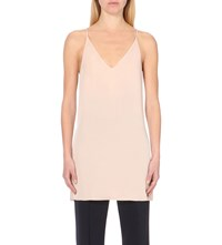 Theory Awenna Long Silk Camisole Blush