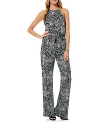 Laundry By Shelli Segal Graphic Print Jumpsuit Black