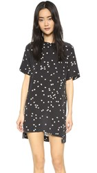Equipment Riley Starry Night Tee Dress Black