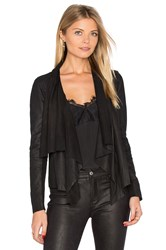 Muubaa Kirbie Drape Front Jacket Black