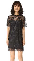 Carven Short Sleeve Dress Black