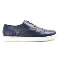 Menlook Label Navy Leather Sneakers