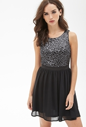 Forever 21 Sequined Fit And Flare Dress