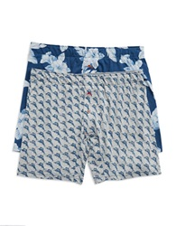 Tommy Bahama 2 Pack Knit Boxer Brief Blue