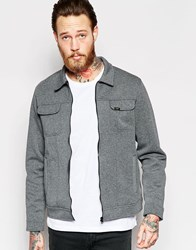 Lee Jacket Rider Bonded Jersey Zipthru In Grey Melange Grey