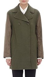 3.1 Phillip Lim Tech Sleeve Boucle Peacoat Green