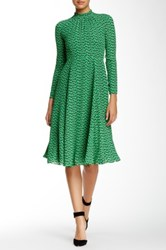 Orla Kiely Printed Midi Dress Green