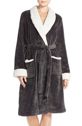 Women's Nordstrom Cable Plush Robe Grey Shade