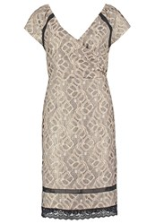 Cream Alberte Cocktail Dress Party Dress Sand Gold