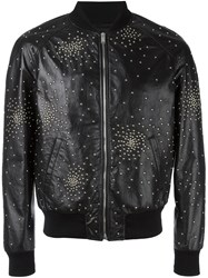 Saint Laurent Oversized Teddy Studded Jacket Black