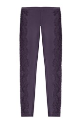 Emilio Pucci Skinny Pants With Lace Purple