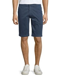 Ag Adriano Goldschmied Griffin Flat Front Shorts Navy