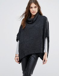 Wal G Knitted Cape Black