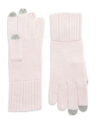 Lord And Taylor Cashmere Tech Gloves Pink