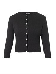 Dolce And Gabbana Cashmere Jewel Button Cardigan Black
