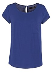 Evenandodd Basic Tshirt Dark Blue