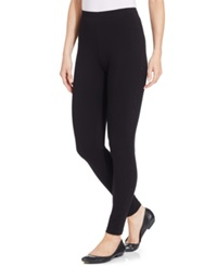 Style And Co. Petite Rhinestone Tuxedo Leggings Only At Macy's Deep Black