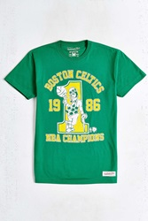 Mitchell And Ness Boston Celtics 1986 Champs Tee Green