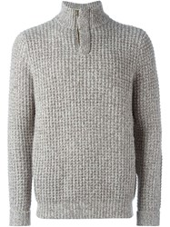 N.Peal Waffle Knit Marled Sweater Brown