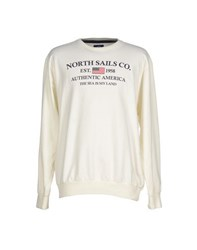 North Sails Topwear Sweatshirts Men Ivory