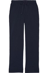 Skin Snow Flake Fil Coupe Cotton Pajama Pants Midnight Blue