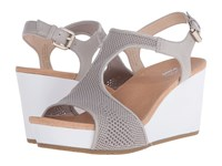 Dr. Scholl's Wiley Original Collection Bone Mesh White Bottom Women's Shoes Taupe