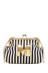 Melie Bianco Striped Initial Pouch M Multi