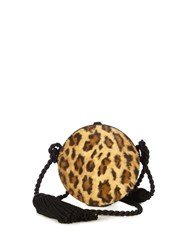 Hillier Bartley Collar Box Leopard Print Tassel Bag