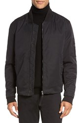 Vince Men's Modern Utility Bomber Jacket Black