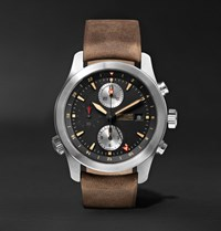 Bremont Alt1 Zt 51 Stainless Steel And Leather Chronograph Watch Brown