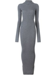 Stella Mccartney Long Ribbed Dress Grey