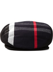 Burberry Check Flat Cap Black