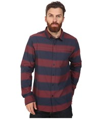Tavik Shin Long Sleeve Indigo Oxblood Men's Short Sleeve Knit Blue