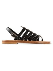 K. Jacques Gladiator Sandals Black