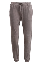 Marc O'polo Leather Trousers Marl Grey
