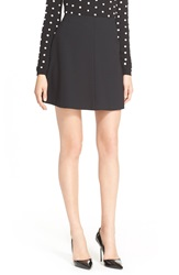 Red Valentino Short Suiting Skirt Black