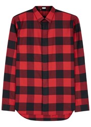Christian Dior Red Checked Flannel Shirt