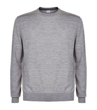 Paul Smith London Crew Neck Merino Sweater Male Light Grey