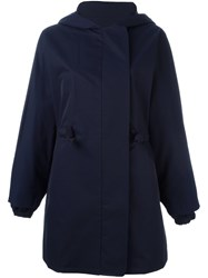 Stella Mccartney Hooded Casual Jacket Blue