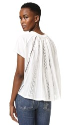 Sea Pleat Back Tee White