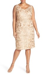 Plus Size Women's Brianna Embellished Embroidered Lace Sheath Dress